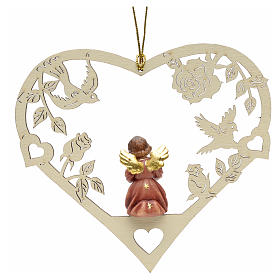 Christmas decor angel with music score on heart s2