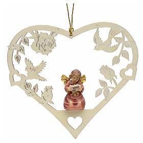 Décoration Noël ange avec partition coeur s1