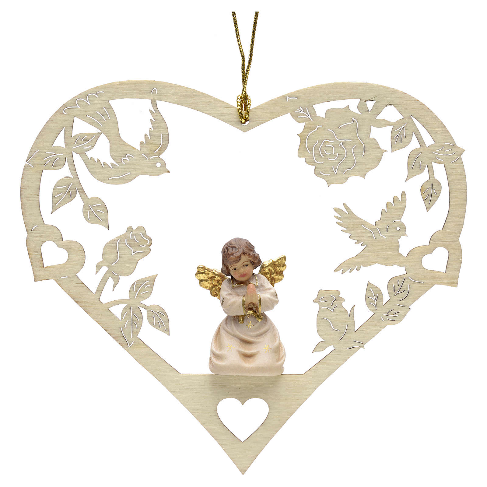 Christmas decor praying angel on heart 4
