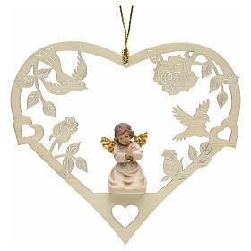 Christmas decor praying angel on heart s1