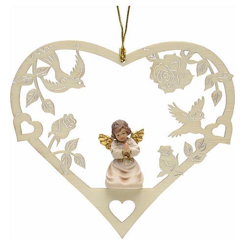 Christmas decor praying angel on heart 1