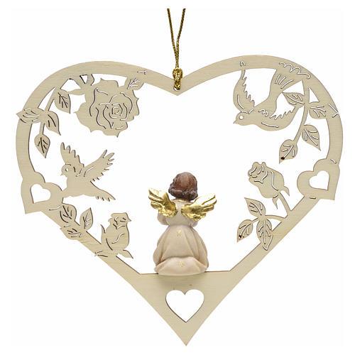 Christmas decor praying angel on heart 2