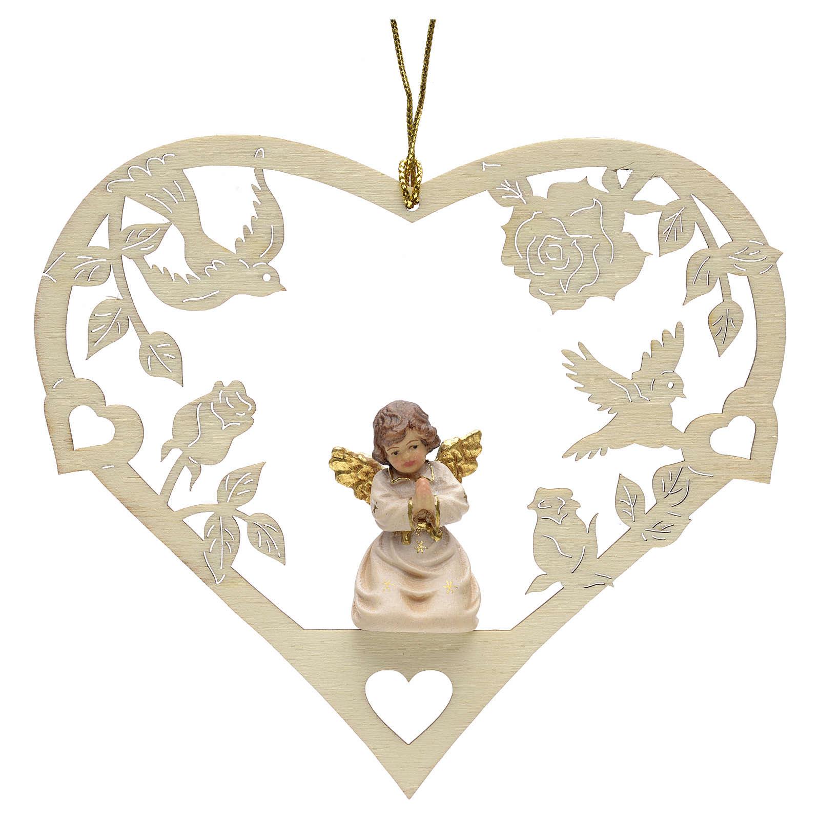 Decoración de Navidad con ángel que ruega con cora 4