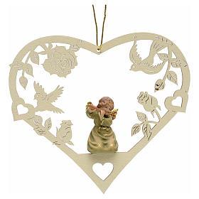 Adornos de madera y pvc para Árbol de Navidad: Decoración de Navidad ángel corazón flauta