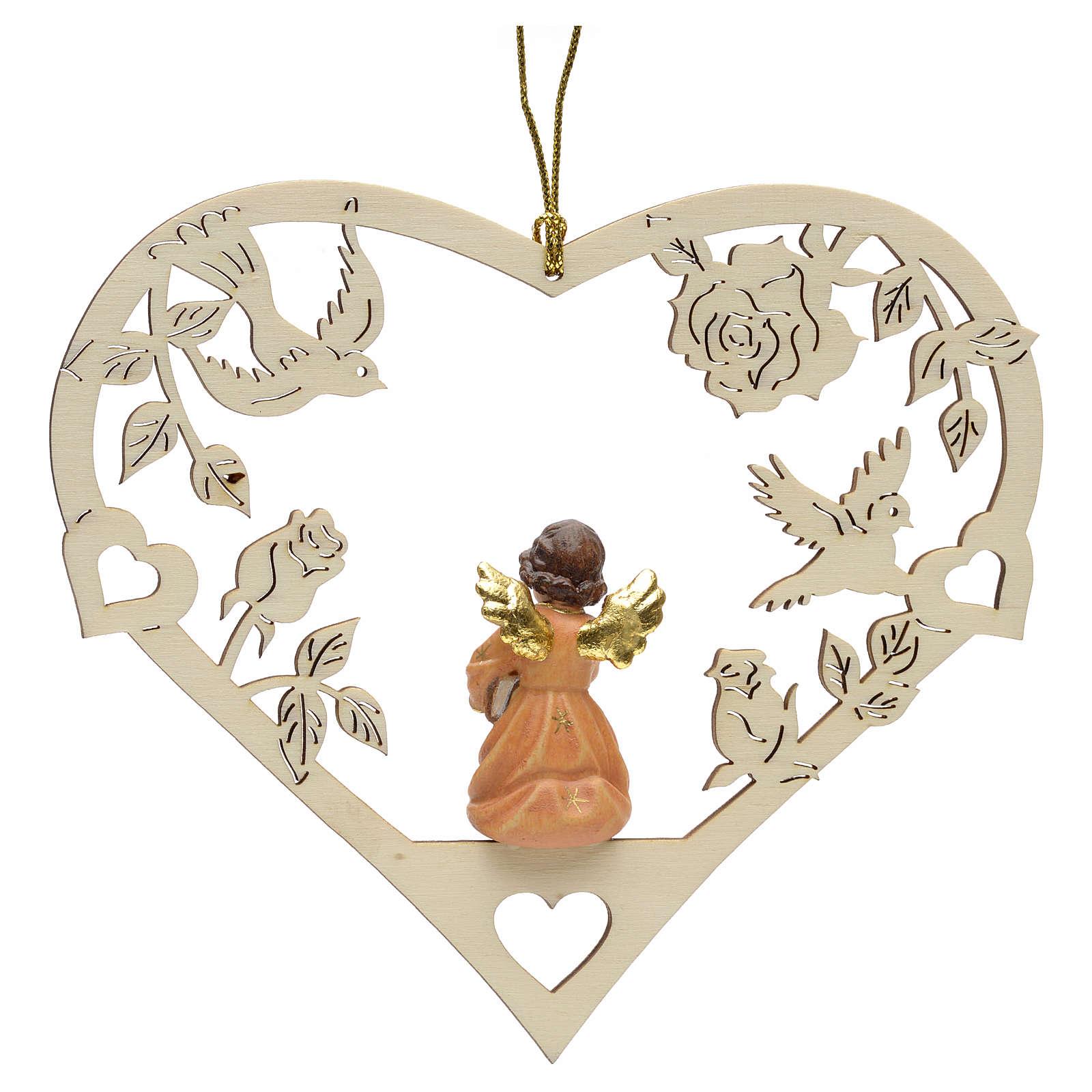 Decoración de Navidad ángel corazón libro 4