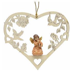 Adornos de madera y pvc para Árbol de Navidad: Decoración de Navidad ángel corazón libro