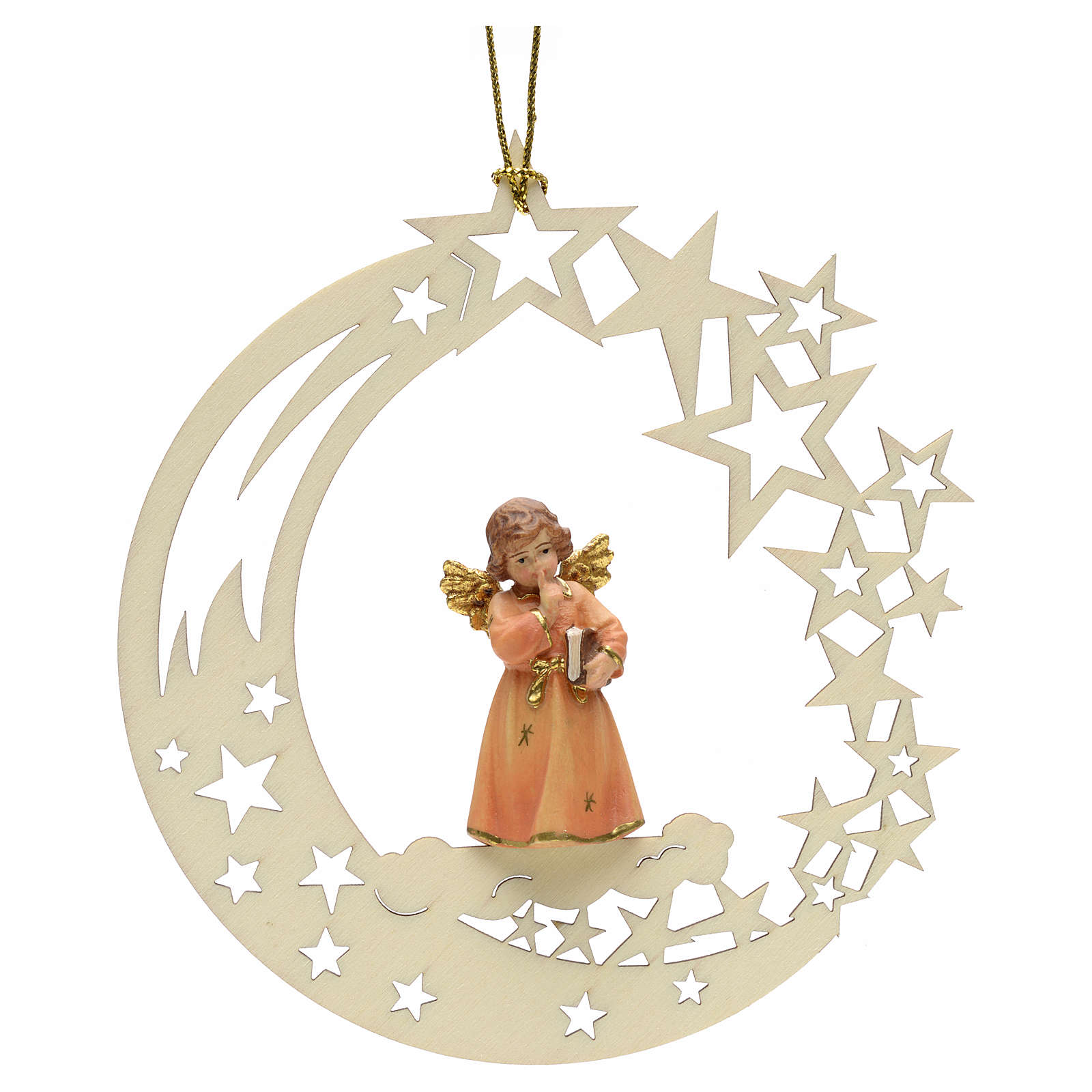 Christmas decor angel with book star 4