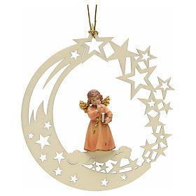 Adornos de madera y pvc para Árbol de Navidad: Decoración de Navidad ángel estrella libro