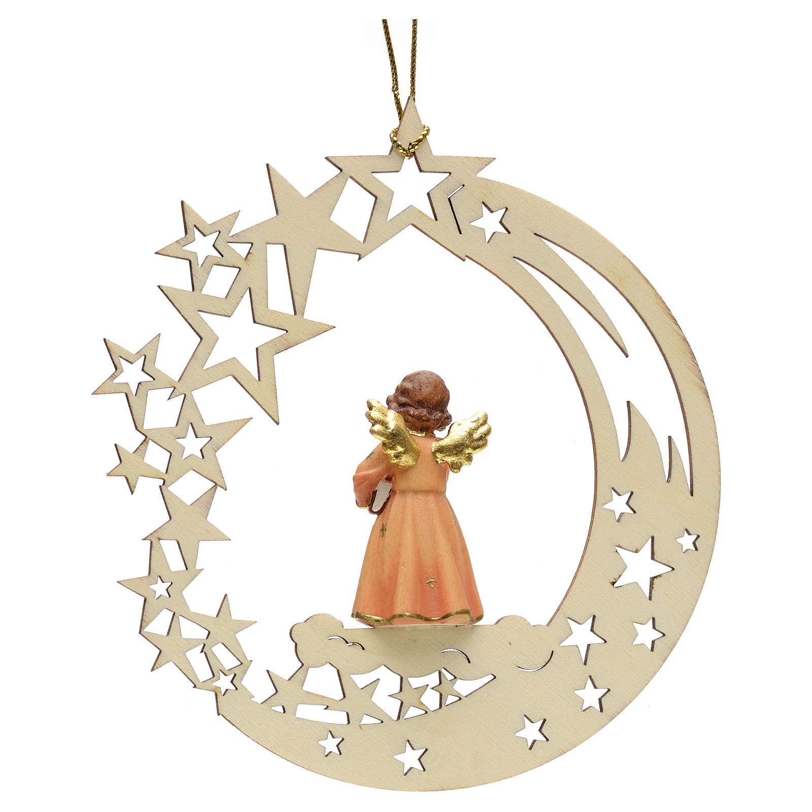 Addobbo di Natale angelo stelle con libro 4