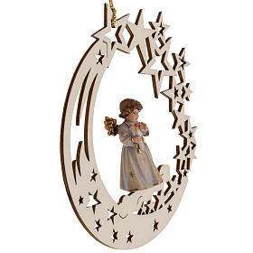 Christmas decor angel with candle star s4