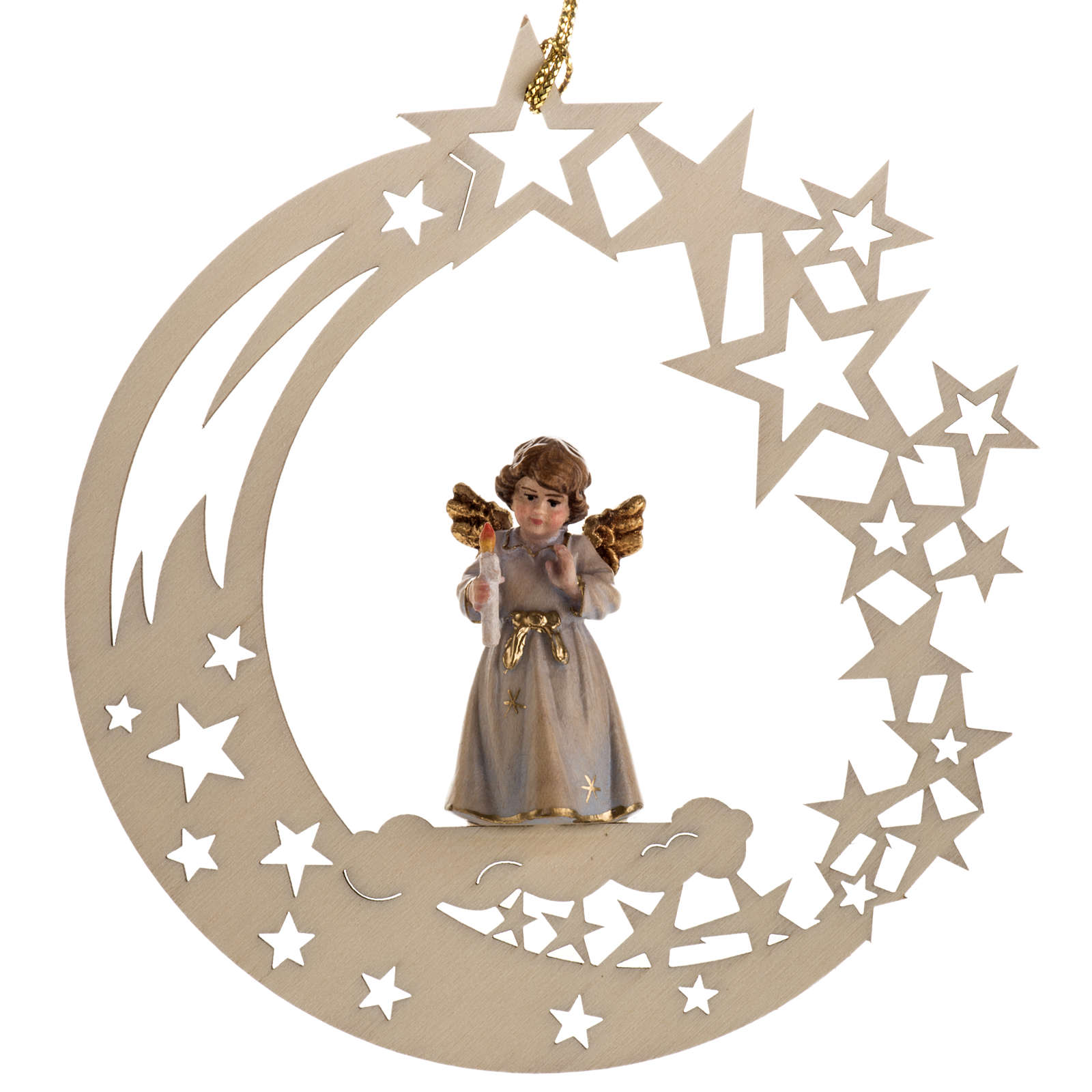 Christmas decor angel with candle star 4
