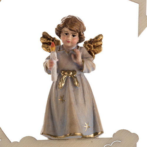 Christmas decor angel with candle star 2