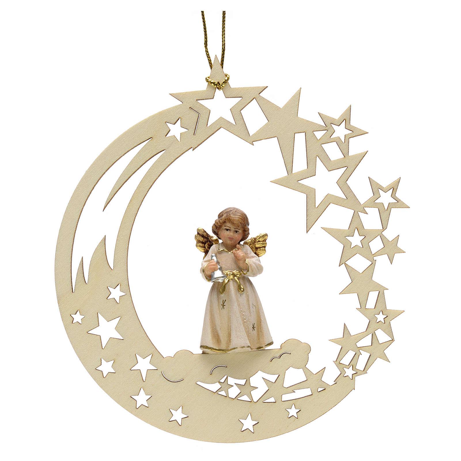 Addobbo di Natale angelo stelle con campana 4