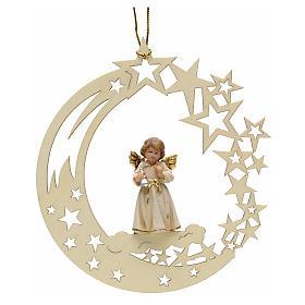 Addobbo di Natale angelo stelle con campana s1