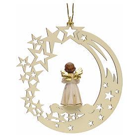 Addobbo di Natale angelo stelle con campana s2