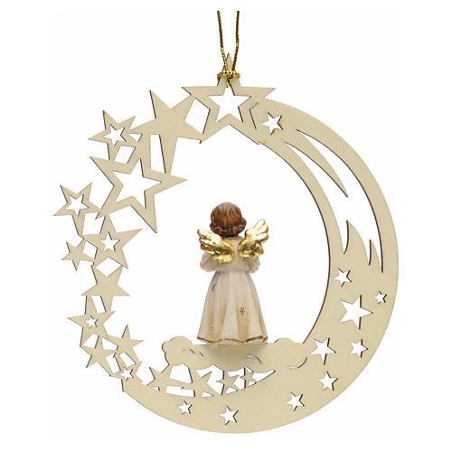 Addobbo di Natale angelo stelle con campana 2