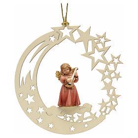 Adornos de madera y pvc para Árbol de Navidad: Decoración de Navidad ángel estrella con una guita