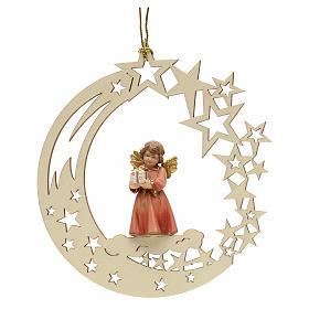 Addobbo di Natale angelo stelle con regalo s1
