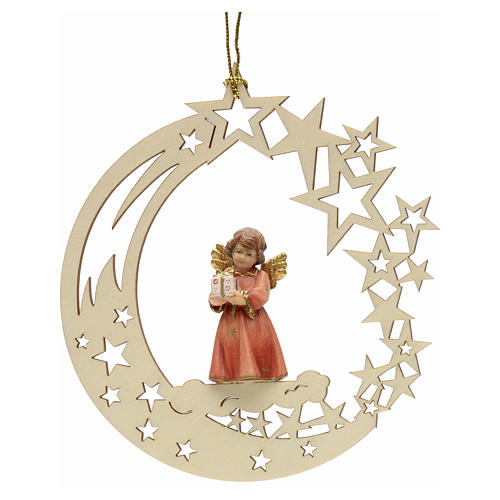 Addobbo di Natale angelo stelle con regalo 1