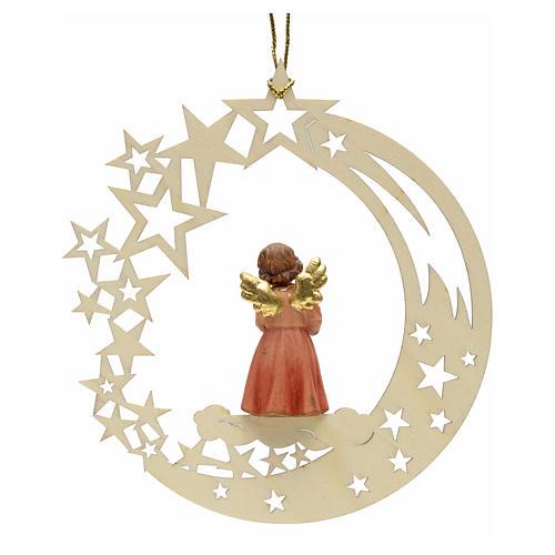 Addobbo di Natale angelo stelle con regalo 2