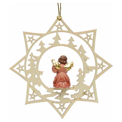 Ornement sapin Noël ange avec guitare sur étoile 2