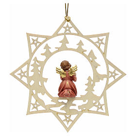 Christmas decoration star angel with gift s2