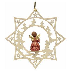 Enfeite anjo estrela árvores com presente s2