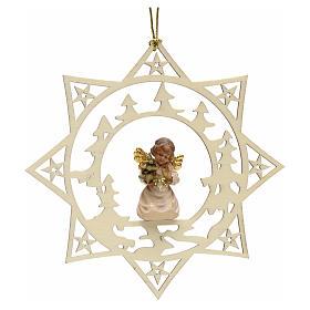 Decoración Angel con árbol y estrella y pinos s1