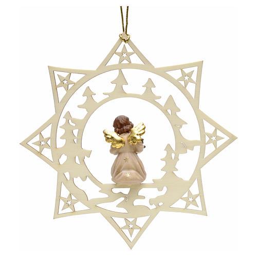 Decoración Angel con árbol y estrella y pinos 2