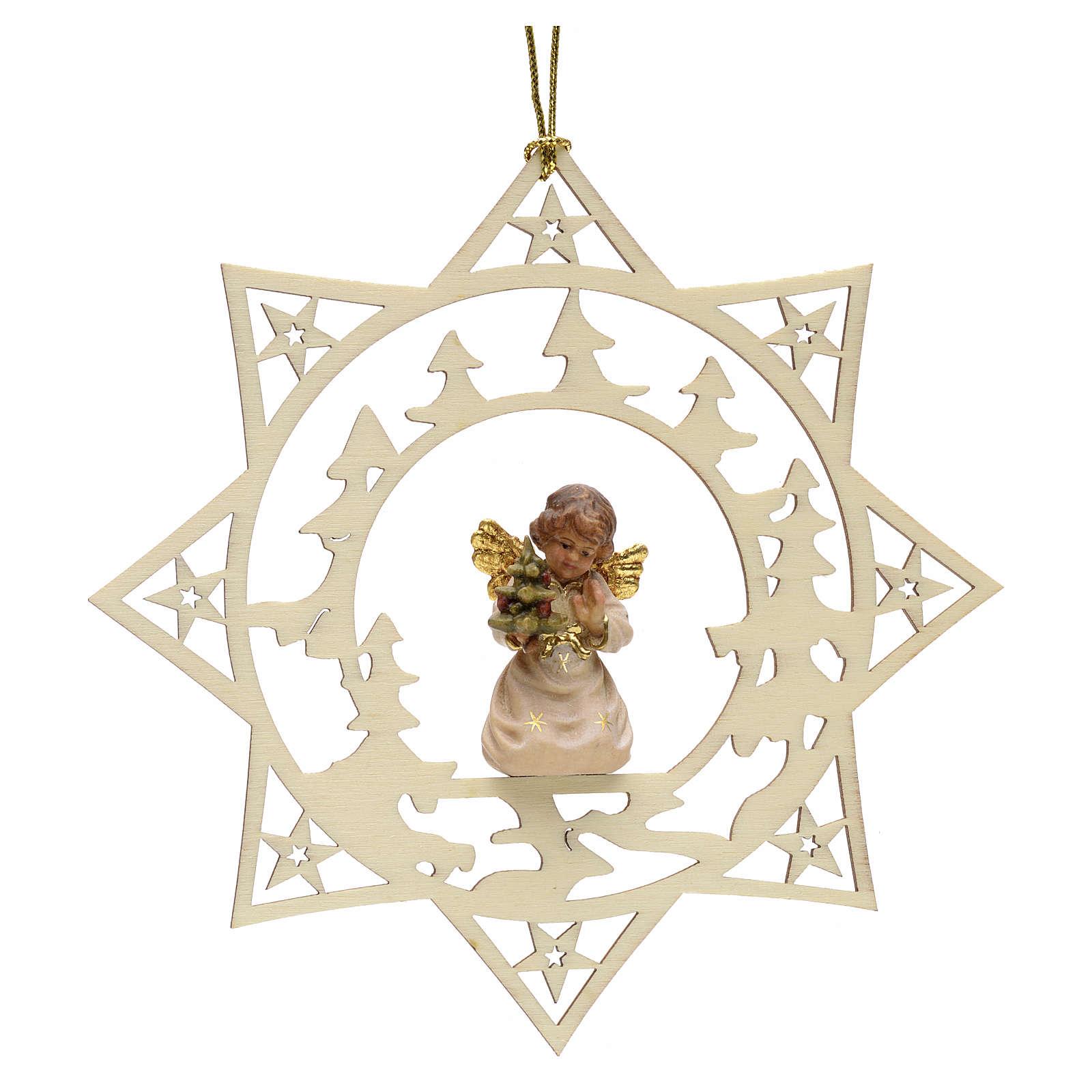 Decorazione angelo stelle pini con alberello 4