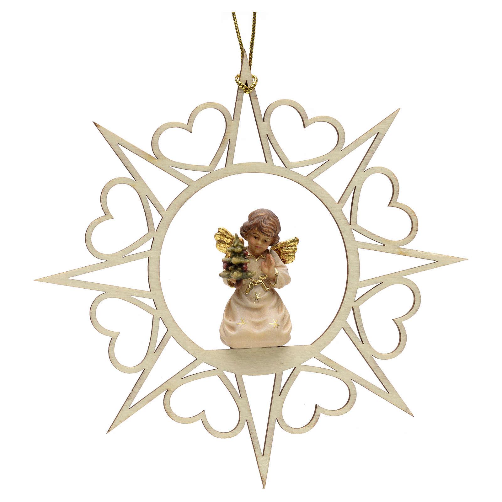 Decoro angelo stelle cuoricini con albero 4