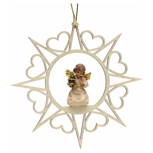 Decoro angelo stelle cuoricini con albero 1