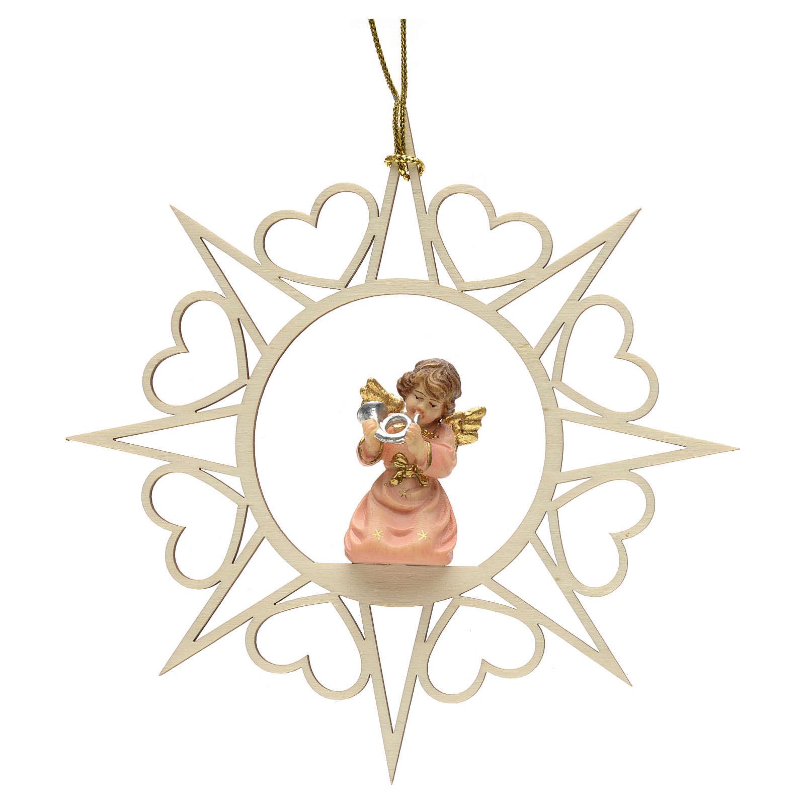 Decoración Ángel con estrellas corazoncitos y un c 4