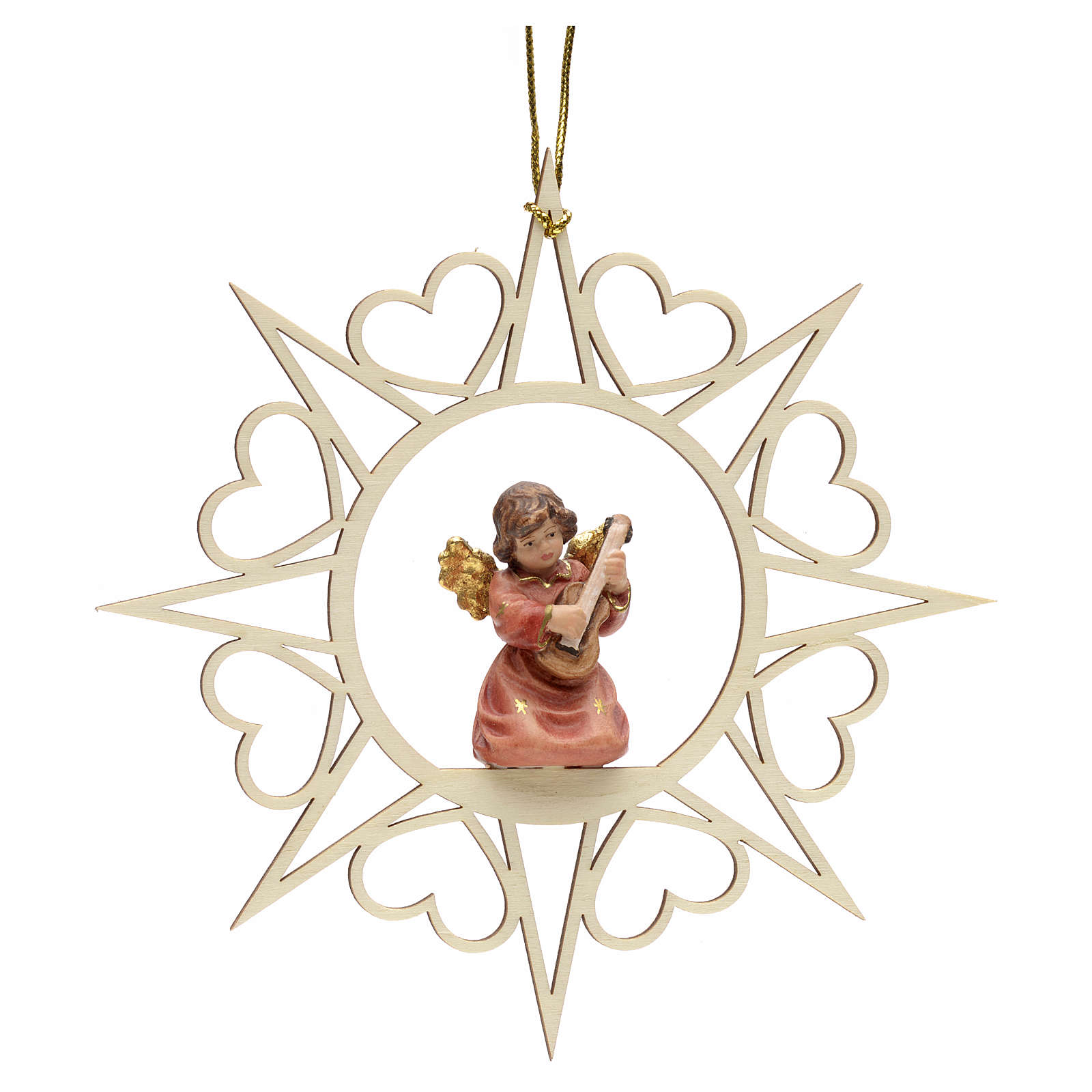 Christmas decoration angel with double bass 4