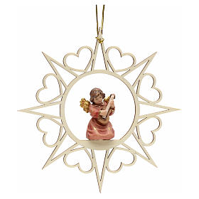 Christmas decoration angel with double bass s1