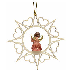 Christmas decoration angel with double bass s2