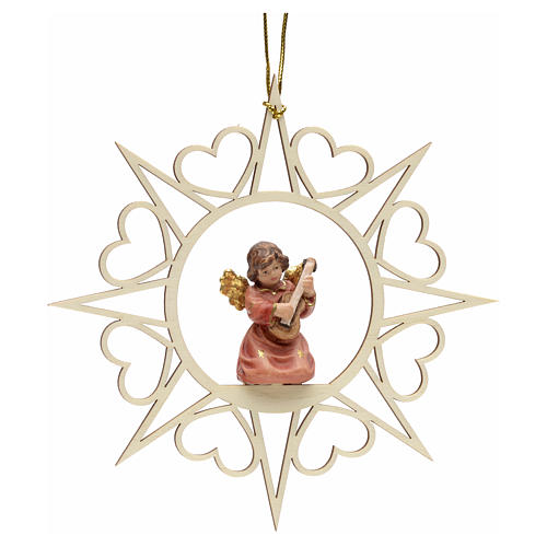 Christmas decoration angel with double bass 1