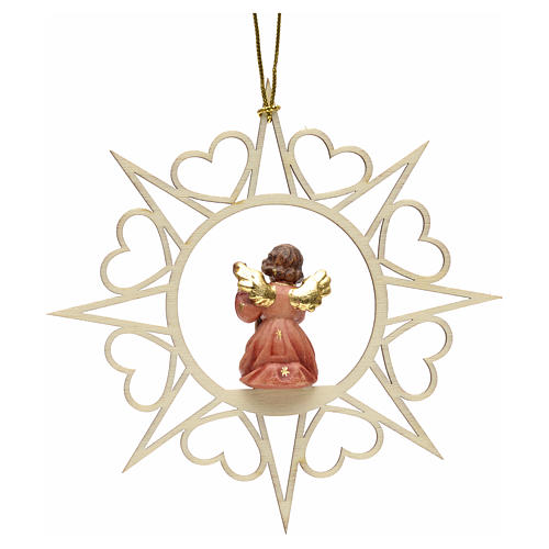 Christmas decoration angel with double bass 2