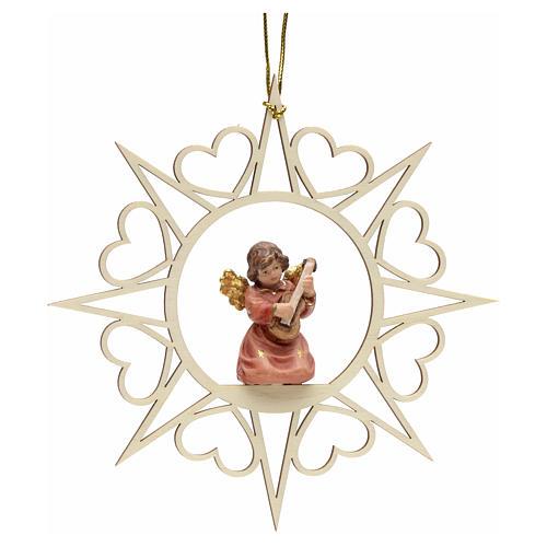Ornement sapin Noël ange avec contrebasse 1