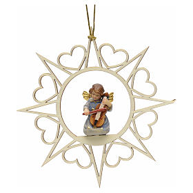 Christmas tree ornaments in wood and pvc: Christmas decoration angel with violin