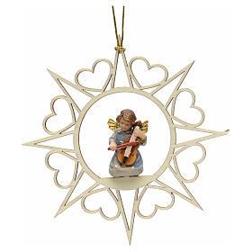 Decoro angelo stelle cuoricini con violino s1