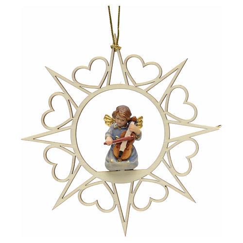 Decoro angelo stelle cuoricini con violino 1