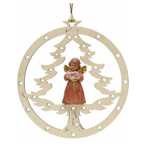 Decoración Navidad Ángel abeto y notas 1