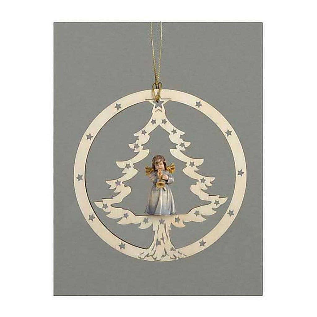 Décoration sapin Noël ange avec trompette 4