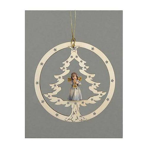 Décoration sapin Noël ange avec trompette 1