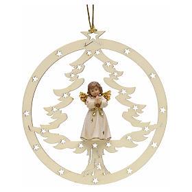 Adornos de madera y pvc para Árbol de Navidad: Decoración  Ángel rezando, abeto