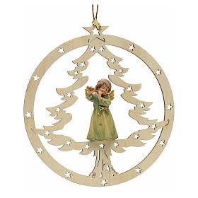 Adornos de madera y pvc para Árbol de Navidad: Decoración Navidad Ángel abeto con flauta