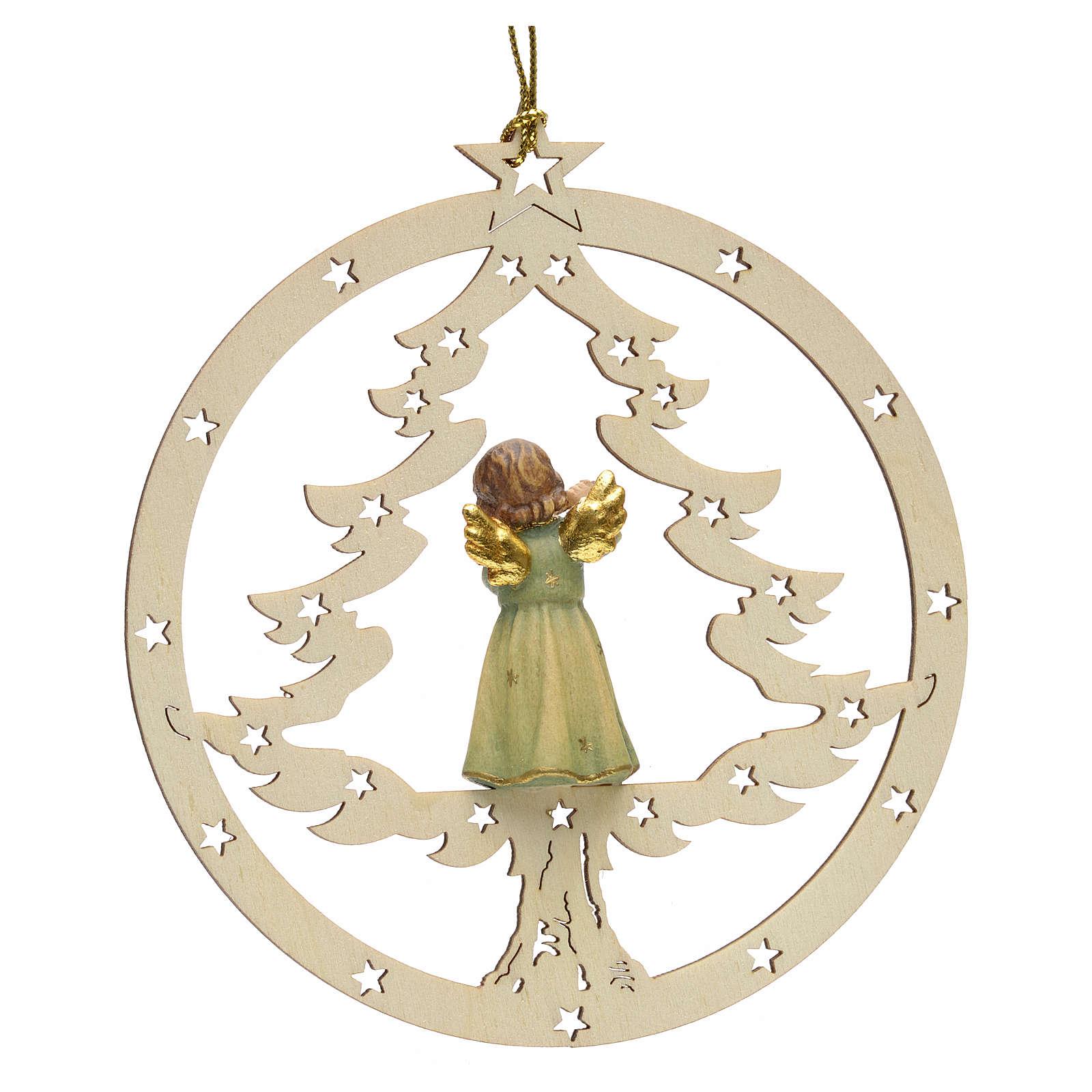 Décoration sapin Noël ange avec flute 4