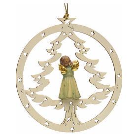 Décoration sapin Noël ange avec flute s2