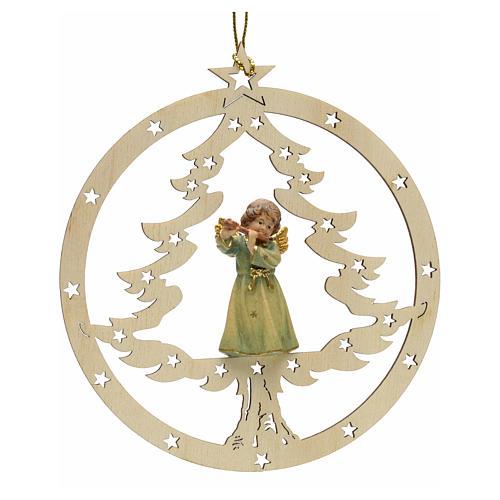 Décoration sapin Noël ange avec flute 1